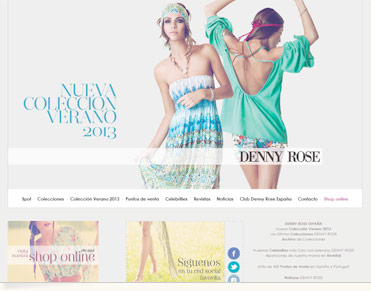 Denny Rose. Diseño web moda. Fashion web design